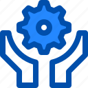feature, gear, help, maintenance, settings icon
