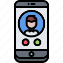 call, interface, phone, smartphone, telephone, ui, watch icon