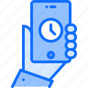 hand, interface, phone, smartphone, ui, watch icon