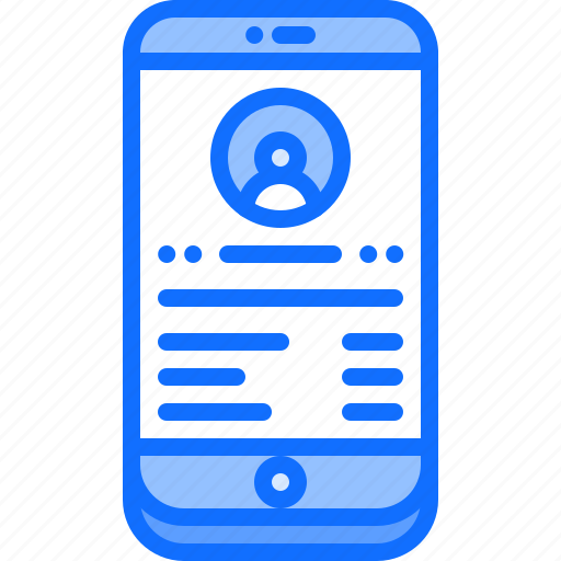 contact, details, interface, phone, smartphone, ui, watch icon