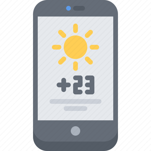 app, interface, phone, smartphone, temperature, ui, watch, weather icon