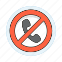 block, call, phone, restrictions icon