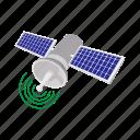 cartoon, communication, icon global, satellite, science, space, telecommunication