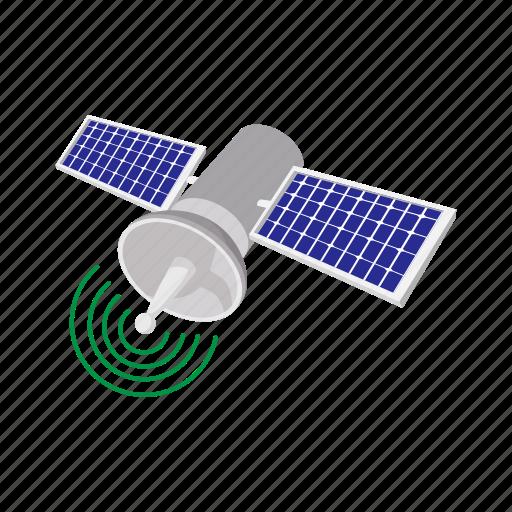 cartoon, communication, icon global, satellite, science, space, telecommunication icon