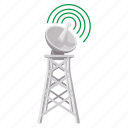 antenna, cartoon, communication, network, tower, wave, wireless icon