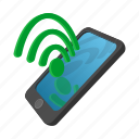 cartoon, connection, internet, mobile, phone, smartphone, wireless icon