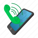 call, cartoon, communication, connection, mobile, phone, telephone icon