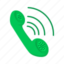 cartoon, communication, connection, phone, receiver, telephone icon