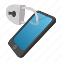 cartoon, lock, mobile, phone, security, smart, touchscreen icon
