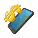 cartoon, dollar, exchange, finance, rich, savings, wealth icon