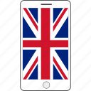 country, england, flag, national, phone icon