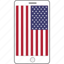 america, country, flag, national, phone icon