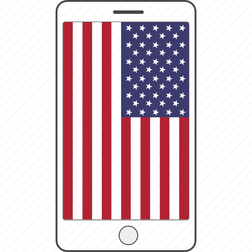 America, country, flag, national, phone icon - Download on Iconfinder