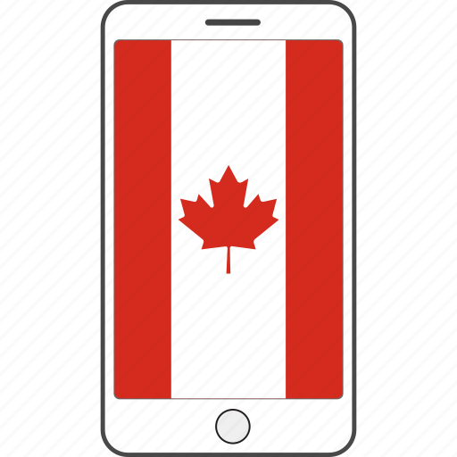 canada, country, flag, national, phone icon