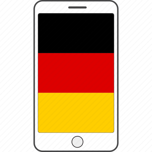 country, flag, germany, national, phone icon