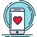 blue, heart, like, love, notification, pink, red icon