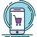 blue, buy, market, order, pink, shop, violet icon