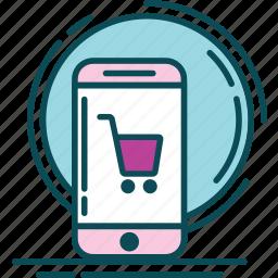 blue, buy, market, order, pink, shop, violet icon