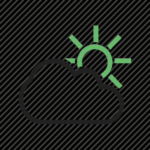 climate, cloud, shiny, sun, sunny, weather icon