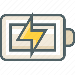 battery, charging, electric, phone, power, smart, status icon
