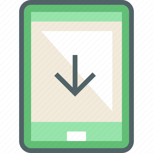 arrow, down, download, phone, receive, smart, smartphone icon