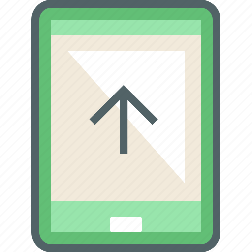 arrow, phone, send, smart, smartphone, up, upload icon