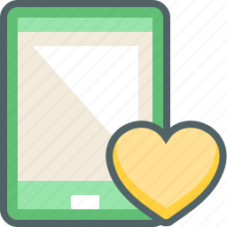 bookmark, favourite, heart, love, phone, smart, smartphone icon