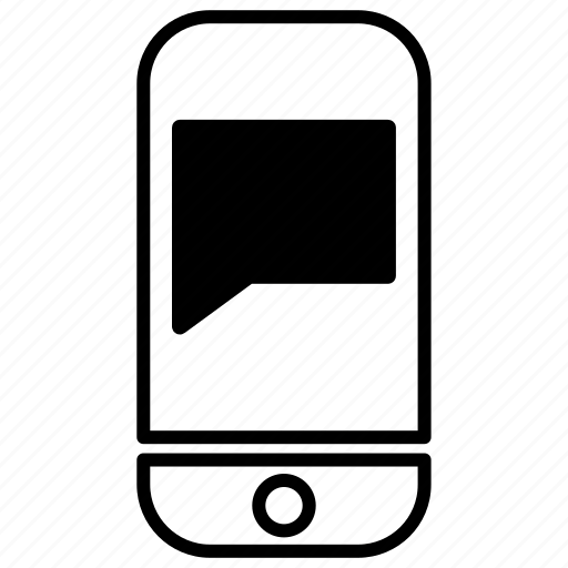 box, chat, interface, message, phone, smartphone, web icon