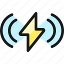 charging, flash, wave
