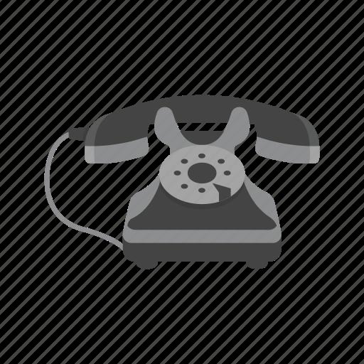 call, office phone, rotary phone, telephone icon