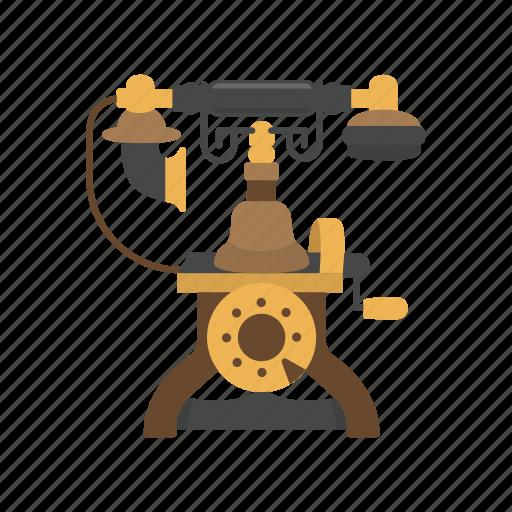 old telephone, phone, rotary phone, telephone icon