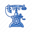 classic telephone, old phone, rotary phone, telephone icon