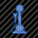 call, classic telephone, telephone, rotary phone