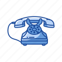 call, home telephone, phone, rotary telephone icon