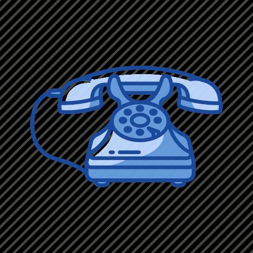 call, home telephone, phone, rotary telephone icon