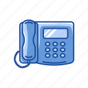 office, office phone, phone, telephone icon