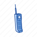 conversation, telephone, phone with antenna, car phone
