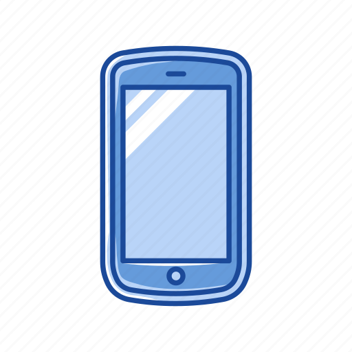cell phone, mobile phone, phone, touch screen phone icon