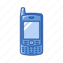blackberry, cell phone, keypad phone, phone icon