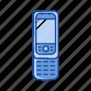 cell phone, keypad phone, phone, sliding phone icon