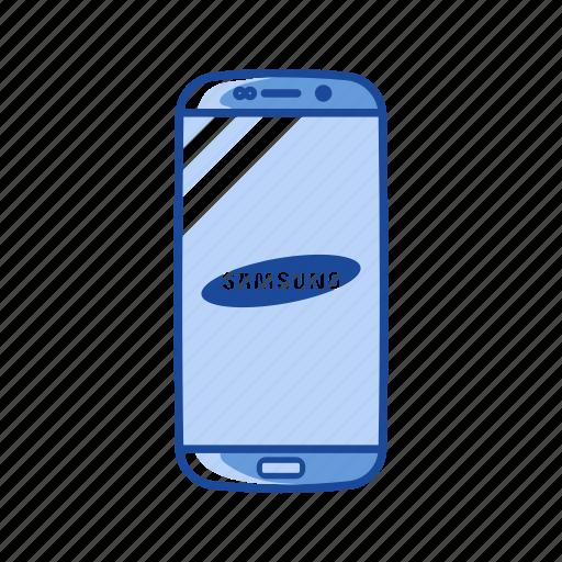 phone, s7 edge, samsung, smartphone icon