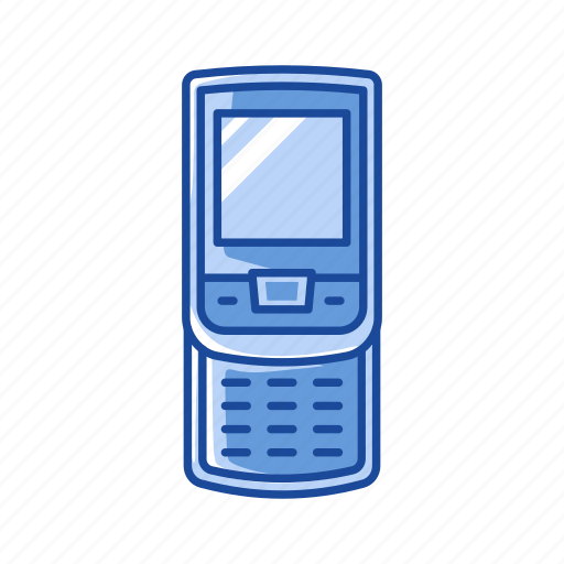 cell phone, mobile phone, phone, sliding phone icon