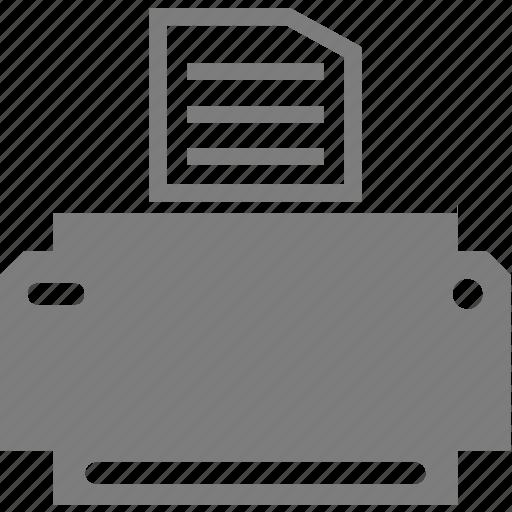 electronics, paper, print, printer icon