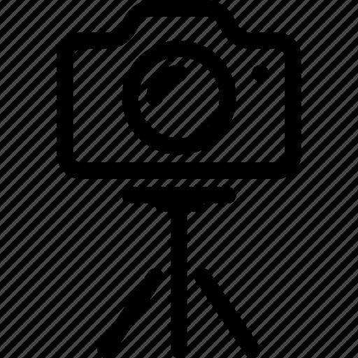 camera, media, photo, photography, tripod icon