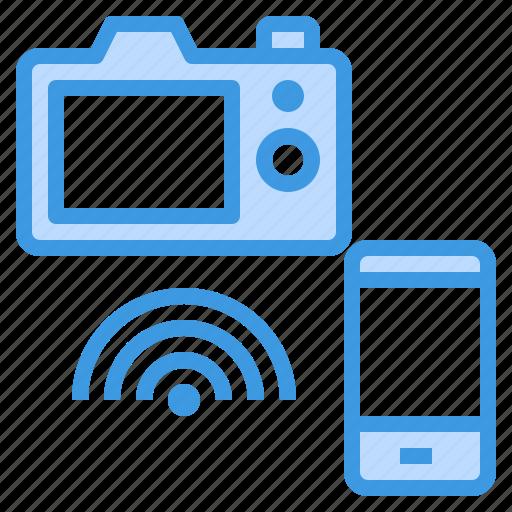 camera, media, movie, photo, remote, video, wifi icon