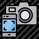 camera, media, movie, photo, remote, smartphone, video icon