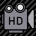 camera, hd, media, movie, photo, video icon