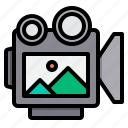 camera, media, movie, photo, video icon