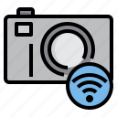 camera, control, media, movie, photo, video, wifi icon