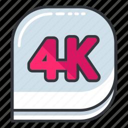 camera, four, k, photo, ui, video icon